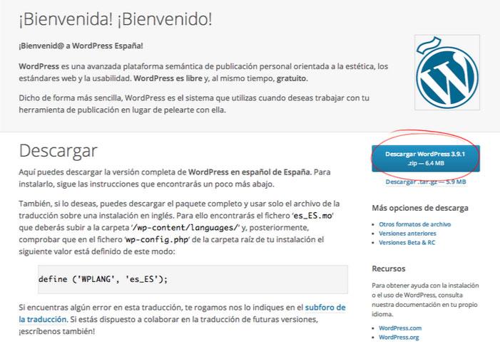 Cómo cambiar el WordPress a castellano
