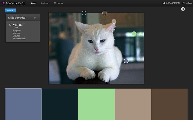 fotos combinaciones de colores Adobe Kuler