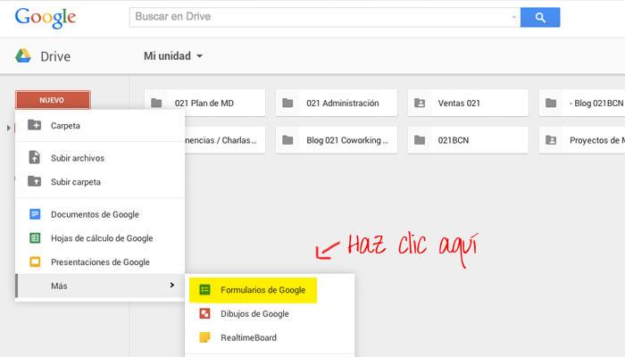 Haz encuestas con Google Forms.