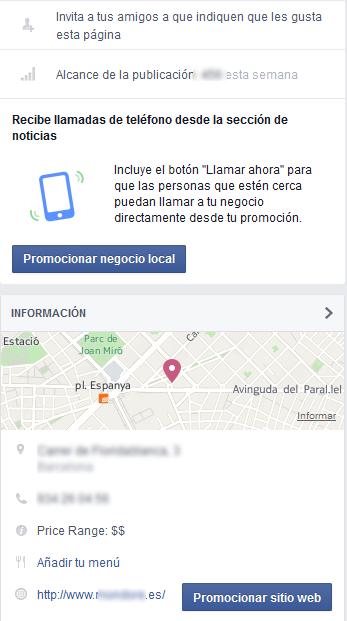 sección de noticias facebook ads para moviles