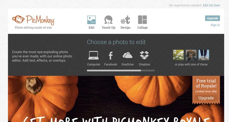 editar de imagenes con picmonkey