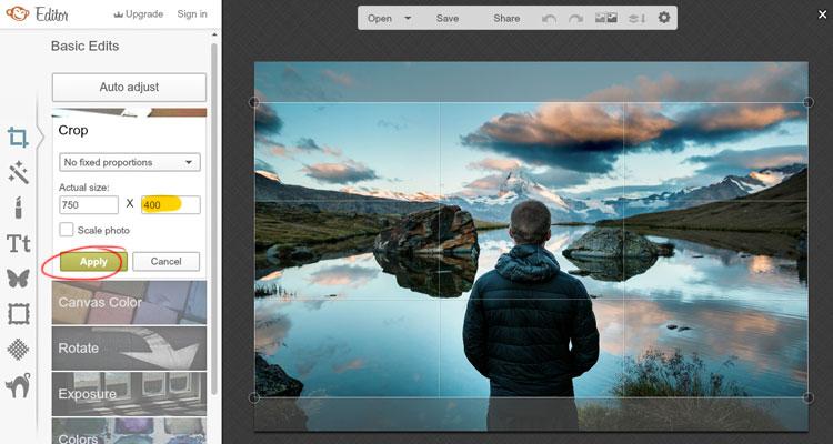 editar imagenes con picmonkey crop