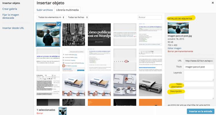 subir archivos y publicar un post en WordPress