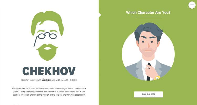 flat web design chekhov