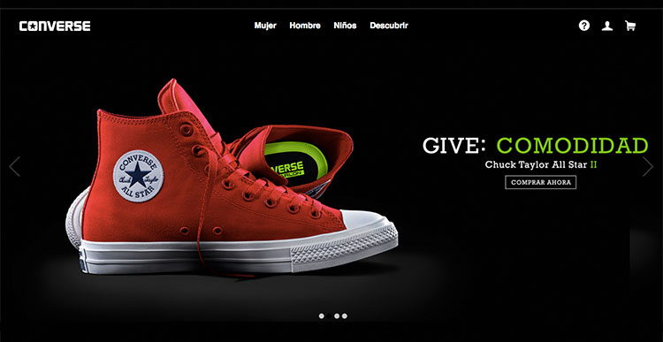 slidshow web design converse