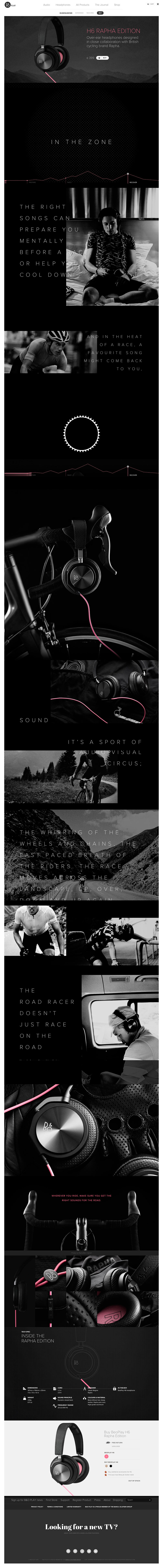 H6 RAPHA EDITION interface web design
