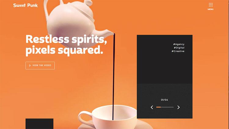 paginas web con color naranja