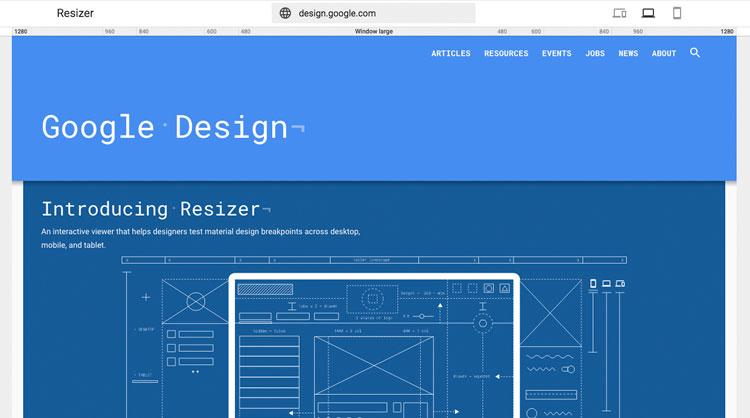 Nueva herramienta de Google Resizer