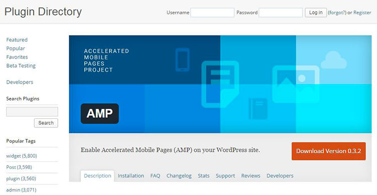 descargar AMP para WordPress