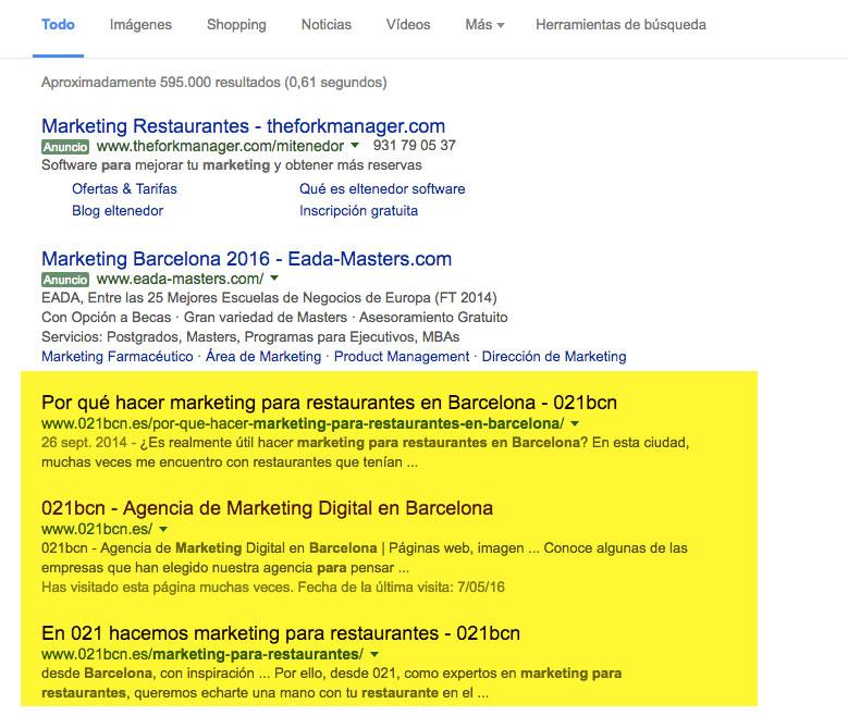 marketing para restaurantes barcelona