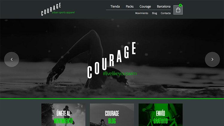 tienda online con woocommerce courage