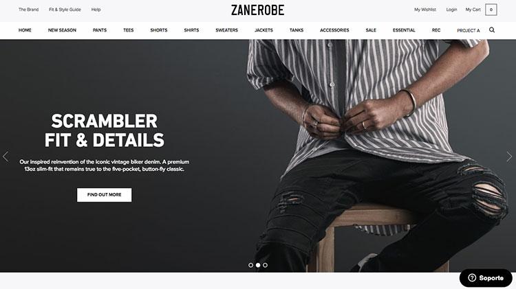 tienda online zanerobe