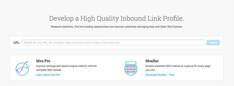 Open Site Explorer MOZ