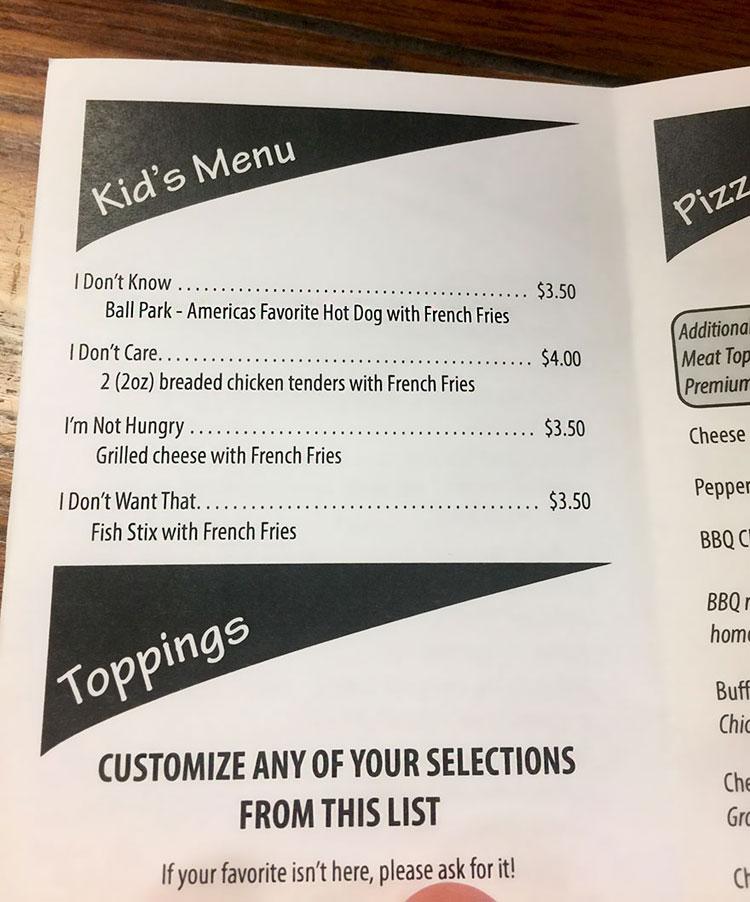 diseno de carta de restaurante