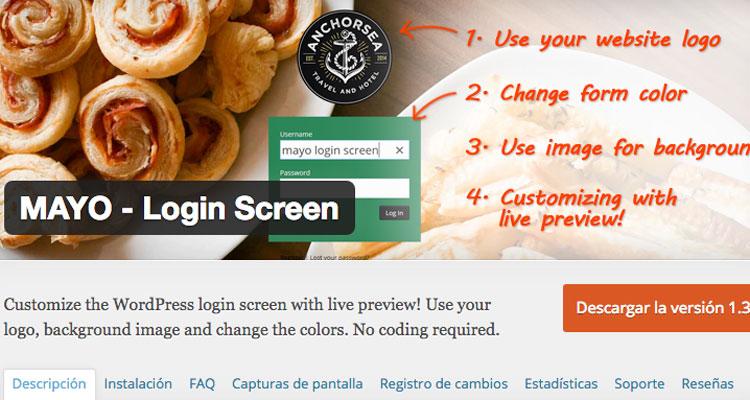 mayo logo screen plugin woocommerce