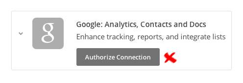 conectar Google Analytics con Mailchimp