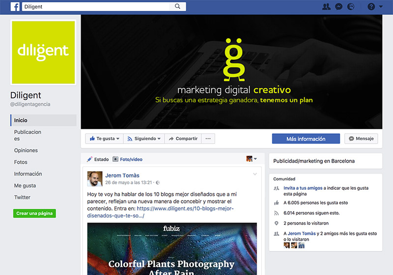 como optimizar mi fan page de facebook
