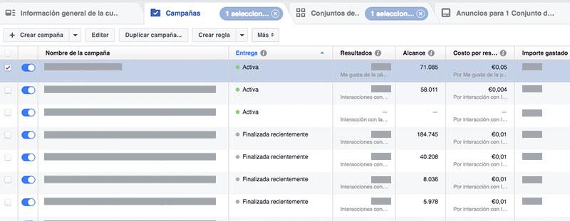 como optimizar una campaña de Facebook Ads