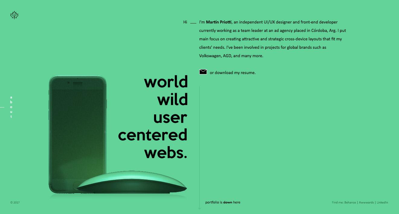el uso del color verde en la web