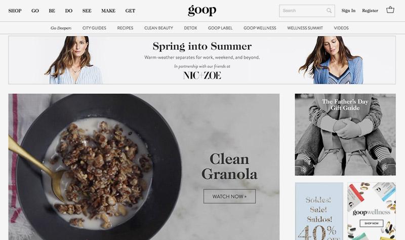 goop tienda online de inspiración