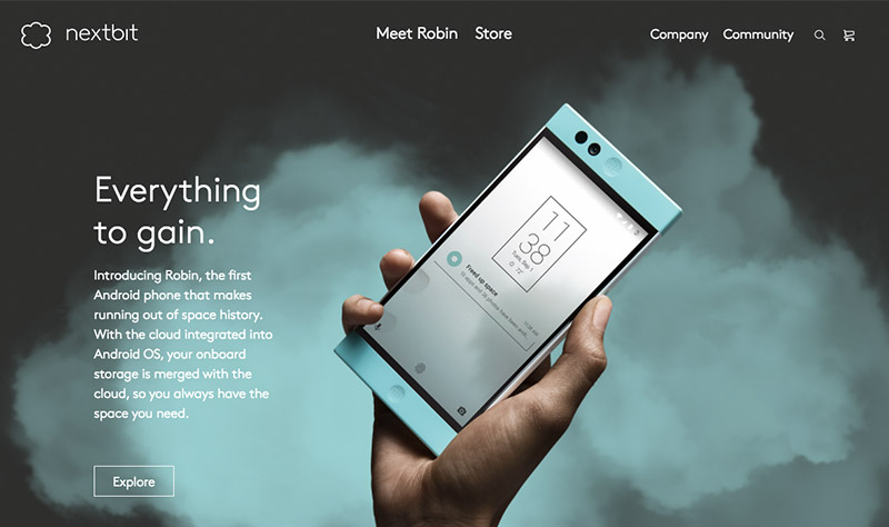 Nextbit Robin eCommerce de inspiración