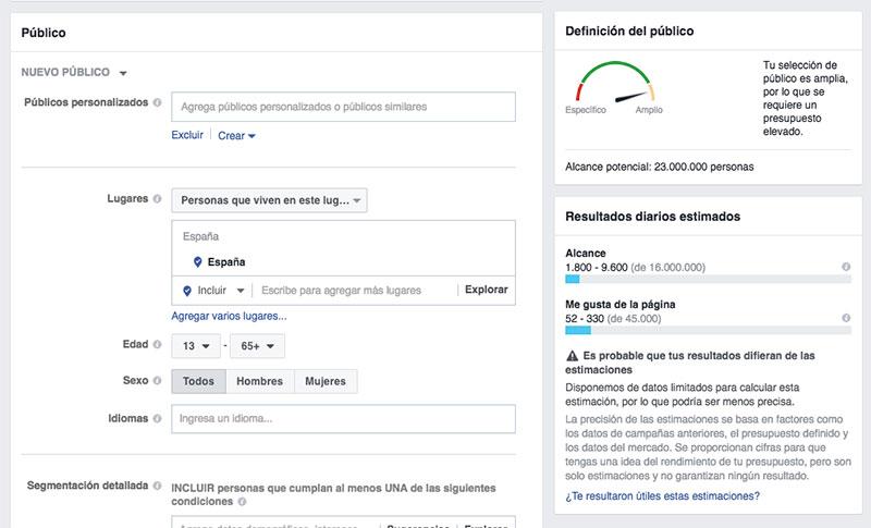 segmentar optimizar una campaña de Facebook Ads