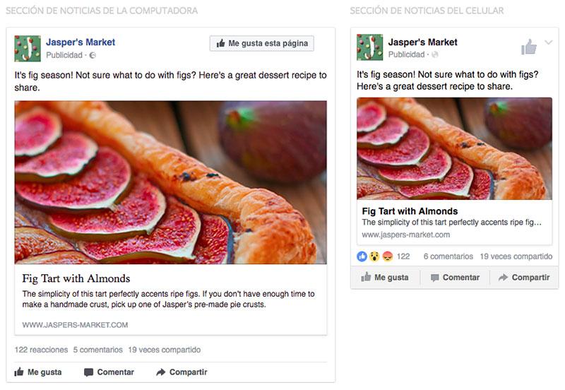 seleccion de anuncios en facebook ads