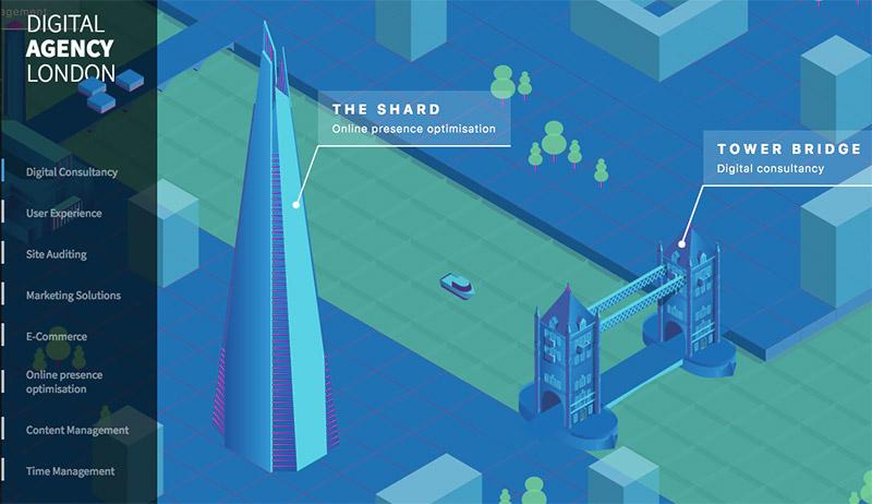 uso de los colores en el diseño web azul digital agency london