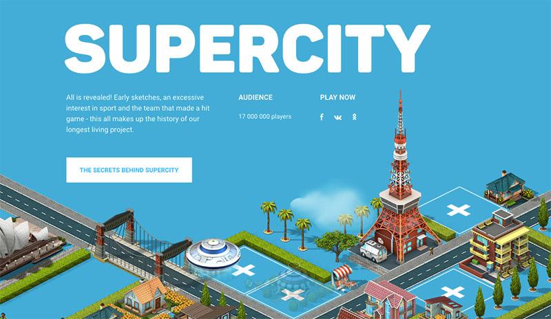 uso de los colores en el diseño web azul supercity