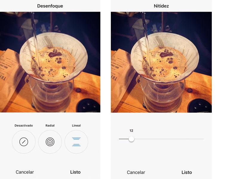 editar fotos con instagram efecto desenfoque