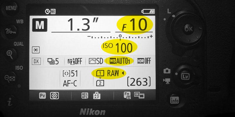 pantalla camara nikon 7200