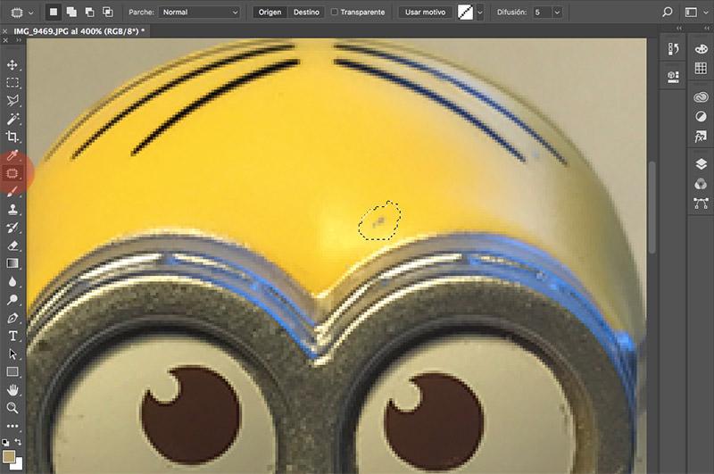Como editar fotografias de producto con photoshop clonar