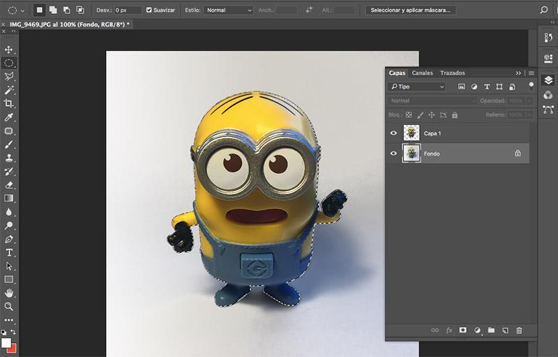 Como editar fotografias de producto con photoshop copiar en capa nueva