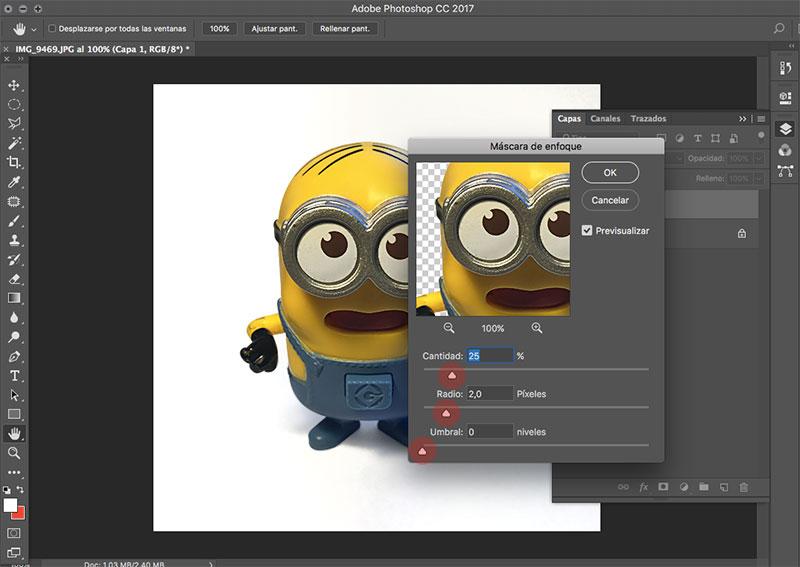 Como editar fotografias de producto con photoshop enfocar