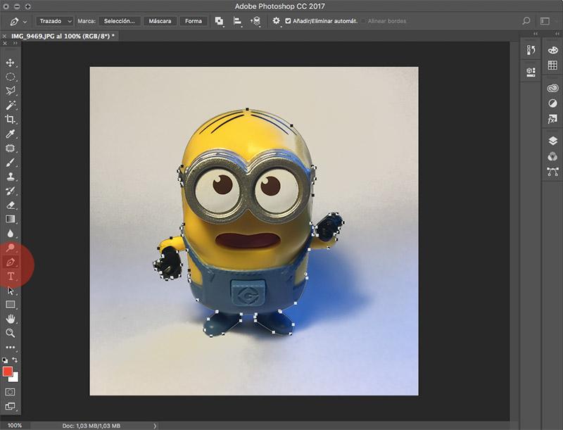 Como editar fotografias de producto con photoshop herramienta pluma