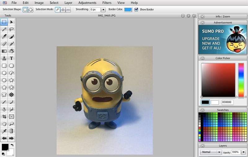 Cómo editar fotografías de producto con Sumo Paint