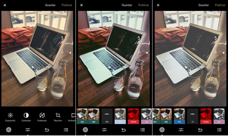 como funciona vsco cam editor de fotografiía móvil