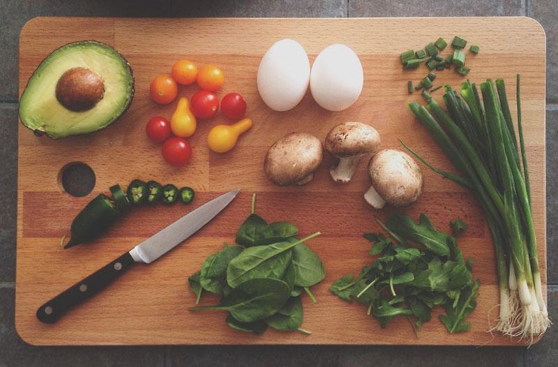 knolling en fotografia gastronomica