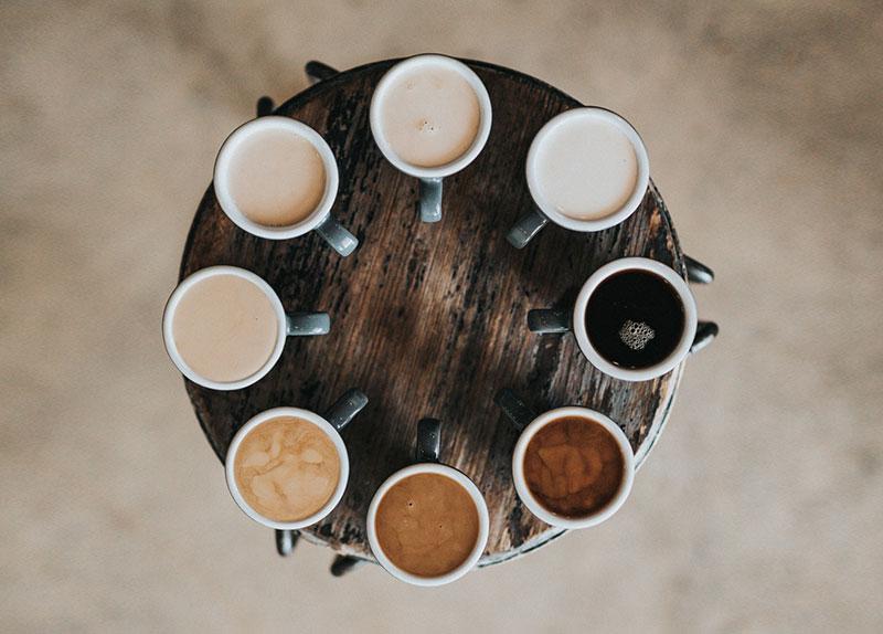 bodegón de producto para productos de café