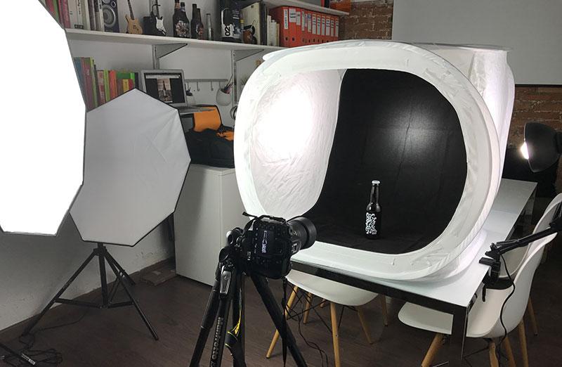 Esquema de iluminación para la fotografía de producto caja de luz