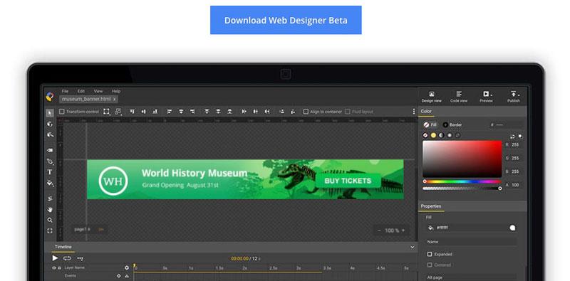 download google web designer beta