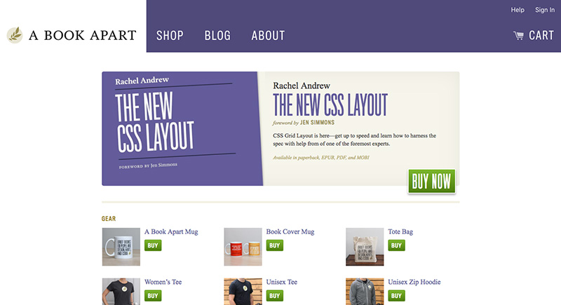Los mejores diseños en e-commerce A Book Apart