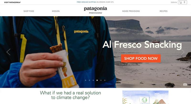 Mejores diseños en e-commerce Patagonia