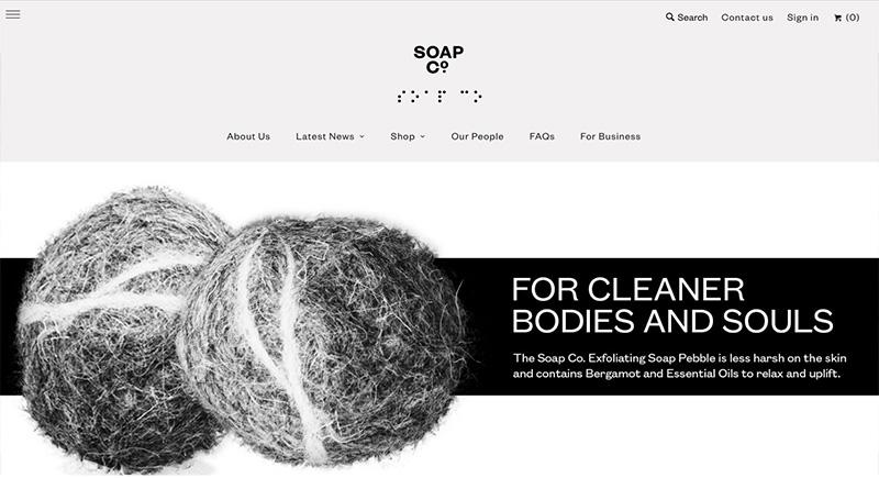 Los mejores diseños en tiendas online soap & co
