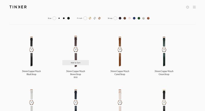 Los mejores diseños en e-commerce tinker
