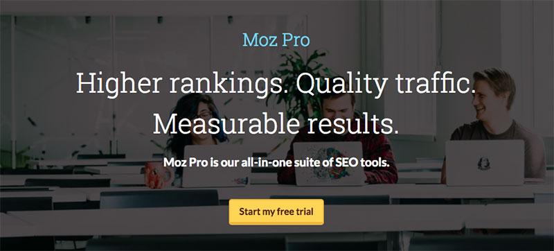 Mejores herramientas SEO - Moz Pro