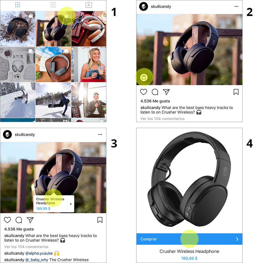 proceso de compra en instagram