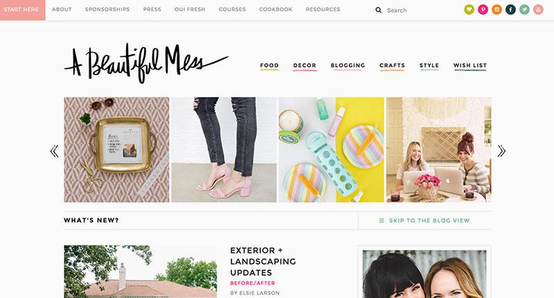 10 blogs de diseño A Beautiful Mess