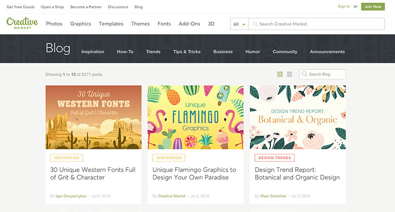 10 blogs de diseño Creative Market