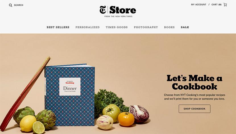10 mejores ecommerce de julio New York Times Store